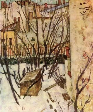 Nicolae Tonitza - Iarna in Bucuresti