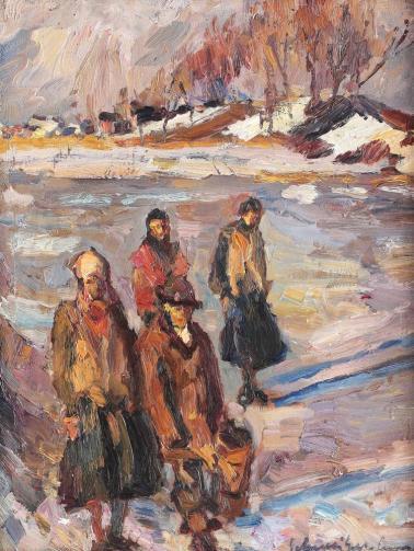 Rudolf Schweitzer-Cumpăna - A înghețat iazul