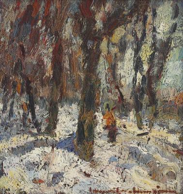 Rudolf Schweitzer-Cumpăna - Drum de iarnă prin pădure