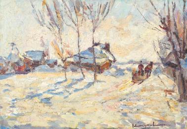 Rudolf Schweitzer-Cumpăna - Peisaj de iarnă.