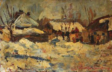 Rudolf Schweitzer-Cumpăna - Peisaj de iarnă
