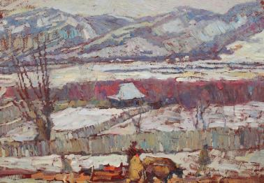 Rudolf Schweitzer-Cumpăna - Peisaj pe Valea Prahovei