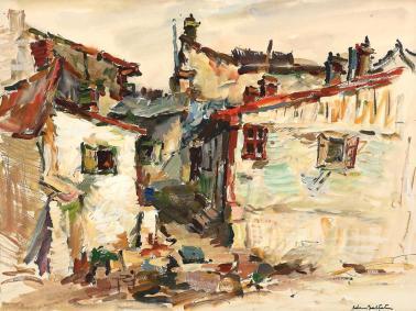 Adam Bălțatu - Case din mahalaua Hușiului
