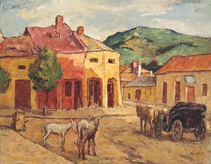 Adam Bălțatu - Stradă din Huşi