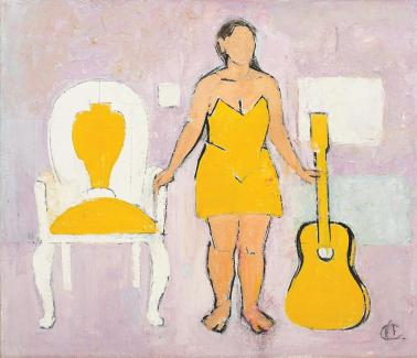 Alexandru Ciucurencu - Femeie cu chitară