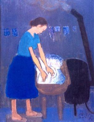Alexandru Ciucurencu - Femeie spălând