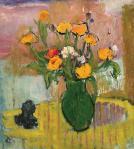 Alexandru Ciucurencu - Natură statică cu flori şi călimară