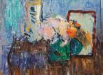Alexandru Ciucurencu - Natură statică cu flori și oglindă