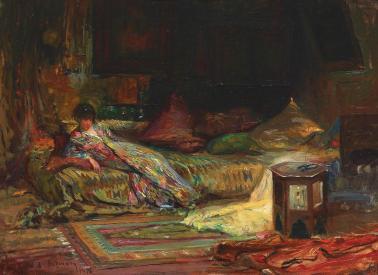 Alexandru Satmary - Interior oriental (Claudia Millian-Minulescu pozând în interior oriental)