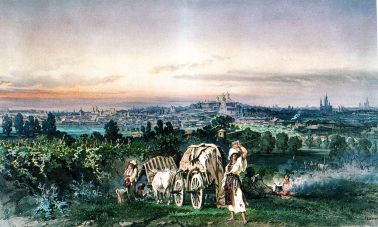 Amedeo Preziosi - Perspectiva Bucureştilor de la Filaret, 1868
