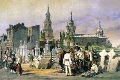Amedeo Preziosi - Turnul şi strada Bărăţiei, 1868