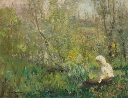 Arthur  Verona - Ţărăncuţă odihnindu-se