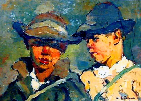 Aurel Băeșu - Doi copii