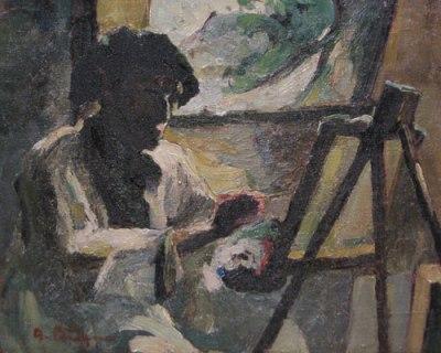 Aurel Băeșu - Pictorul la sevalet