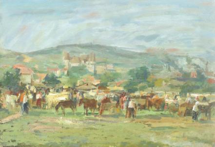 Ștefan Constantinescu - Târg de cai la Rucăr