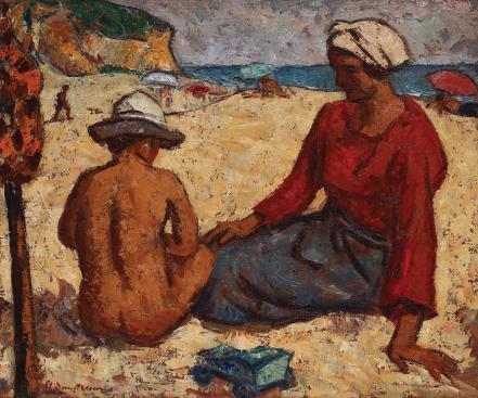 Ștefan Dimitrescu - Pe plaja din Balcic