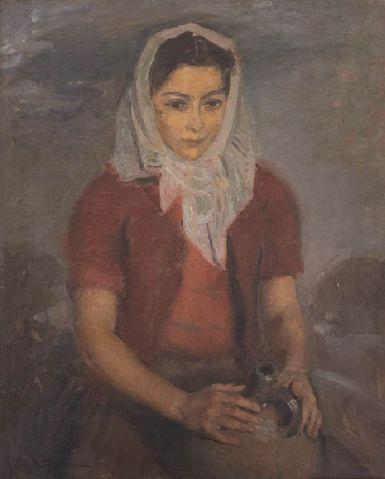 Ștefan Dimitrescu – Portret de fata cu broboada alba