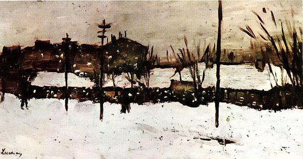 Ștefan Luchian - Iarna la Bariera Filantropia