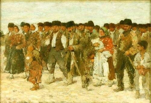 Ștefan Luchian - La impartitul porumbului