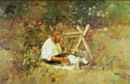 Ștefan Luchian - La nămiezi (Tăietorul de lemne)