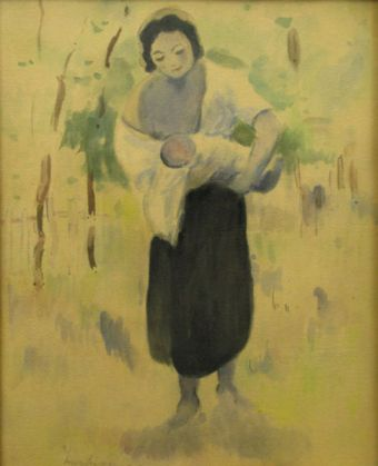 Ștefan Luchian - Mama cu copilu