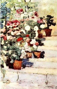 Ștefan Luchian - Scara cu flori