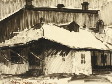 Ștefan Popescu - Acoperișuri sub zăpadă