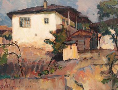 Ștefan Popescu - Peisaj cu case