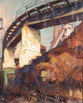 Ștefan Popescu - Peisaj industrial. Reşiţa