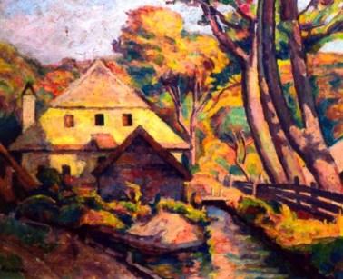 Camil Ressu – Moară în peisaj