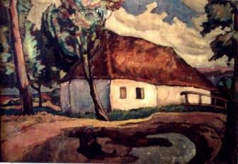 Camil Ressu – Peisaj cu case de ţară