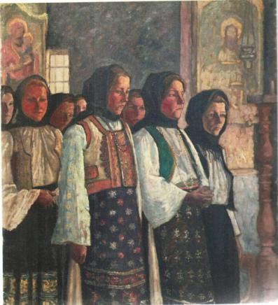 Camil Ressu – Taranci in biserica