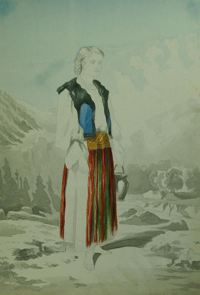Carol Popp de Szathmari - Bănăţeancă cu ulcior