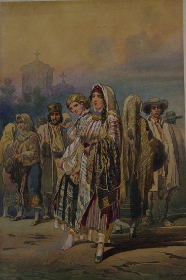 Carol Popp de Szathmari - Ţărani