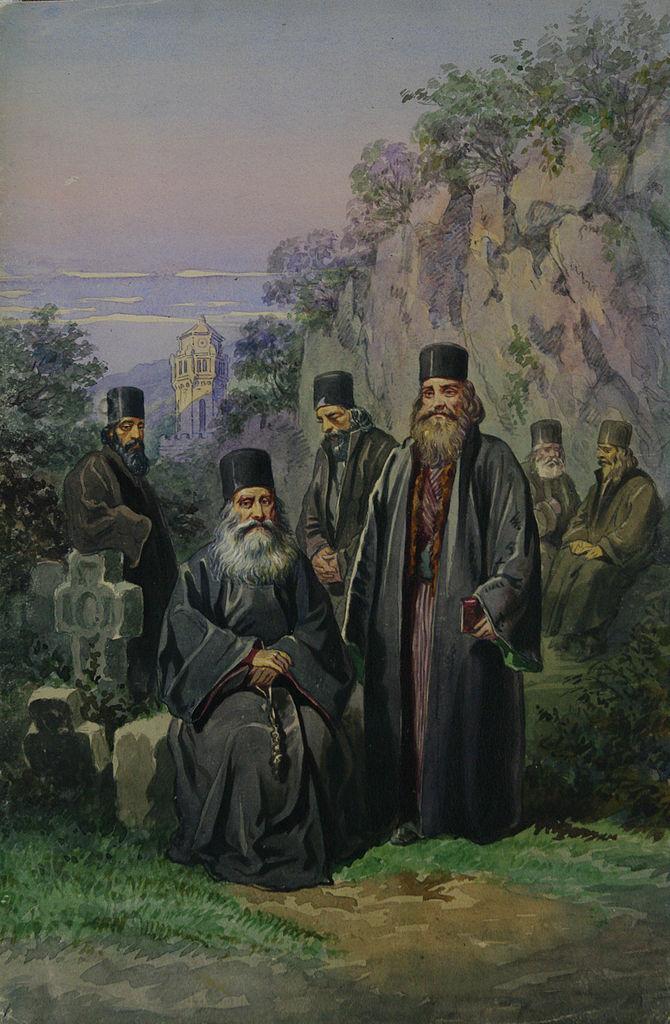Carol Popp de Szathmari - Călugări din România
