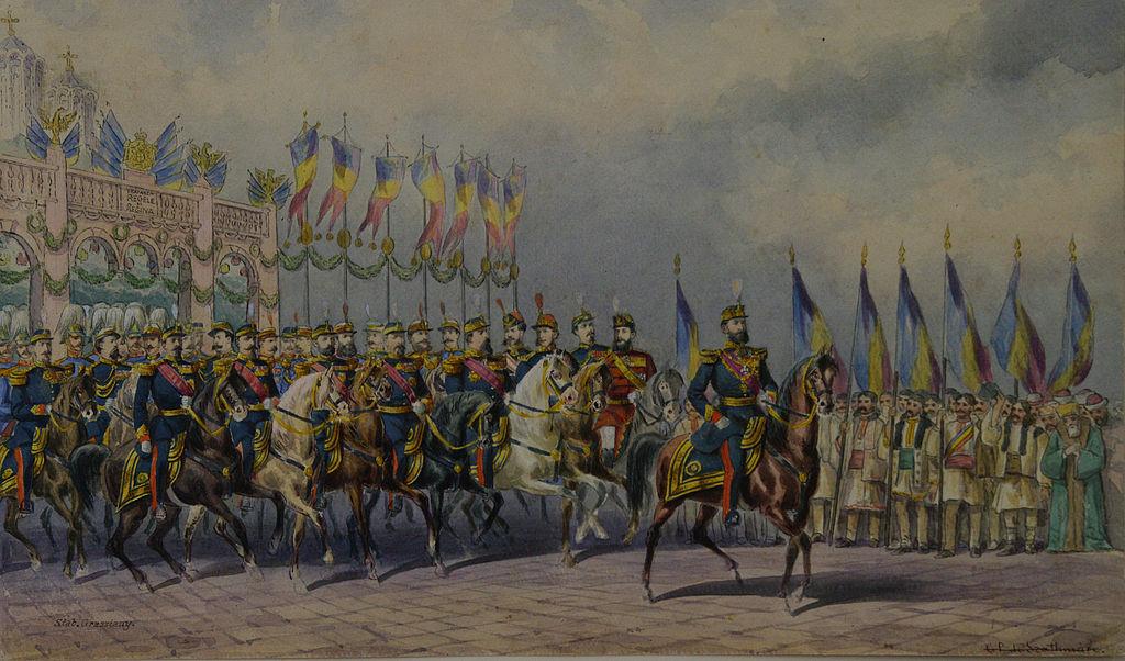 Carol Popp de Szathmari - Regele Carol I cu suita