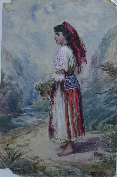 Carol Popp de Szathmari - Tânără ţărancă