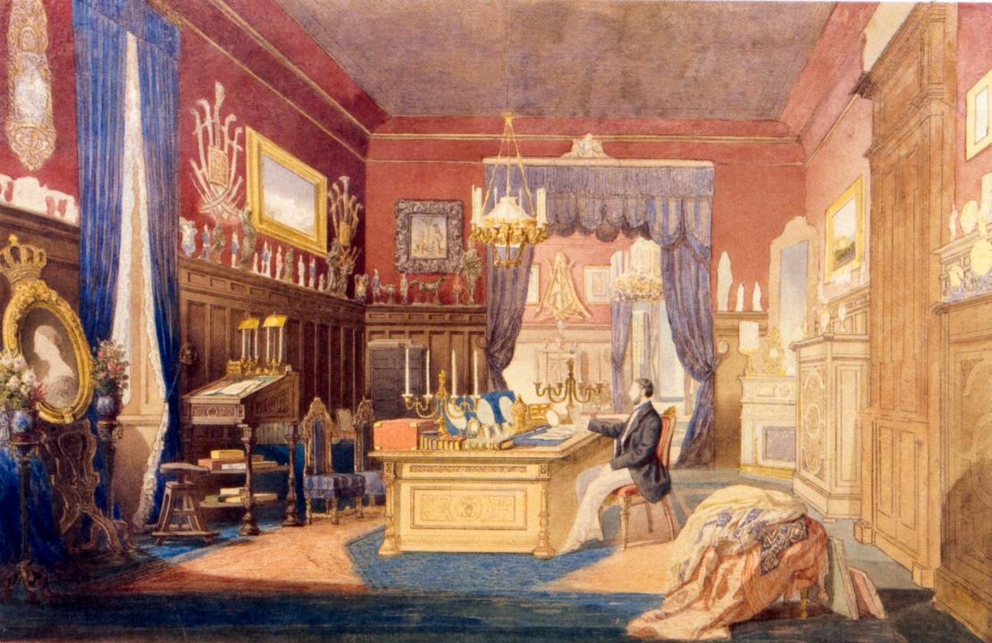 Carol Popp de Szathmary - Carol I în biroul de lucru de la Cotroceni