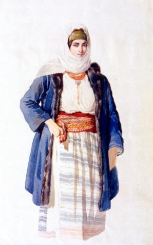 Carol Popp de Szathmary - Lăptăreasă din satul Tunari, Judeţul Ilfov