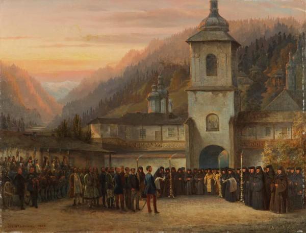 Carol Popp de Szathmáry - Vizita domnească la o mănăstire de maici