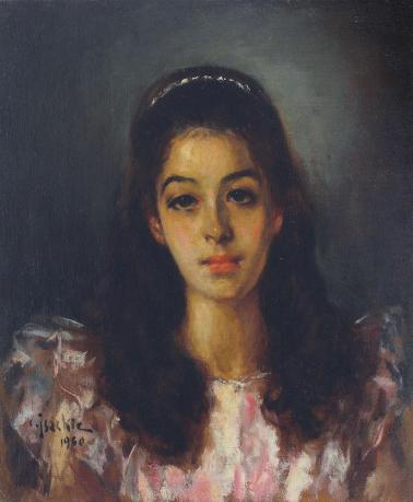 Constantin Isachie Popescu - Portret de fată