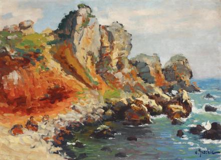 Constantin Isachie Popescu - Stânci la Nice