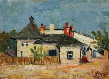Alexandru Ciucurencu - Peisaj cu case