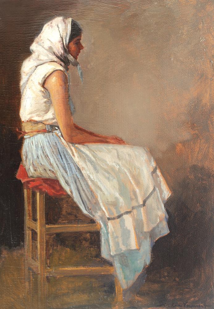 Nicolae Vermont - Ţărăncuţă cu broboadă albă