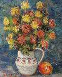Dumitru Ghiaţă - Cană cu flori
