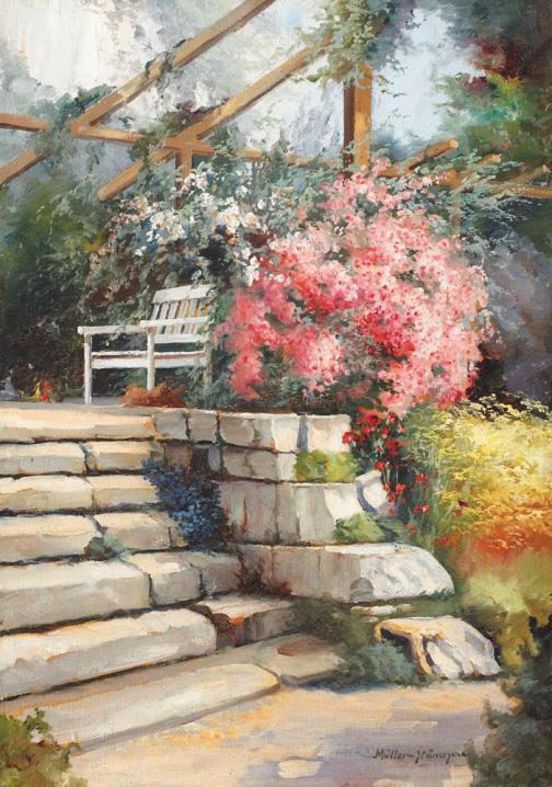 Elena Müller-Stăncescu - Gradina cu flori