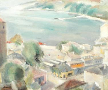 Francisc Șirato - Piață în Balcic