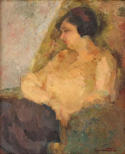 Francisc Șirato – Portret de aristocrată (Lila, nepoata artistului)