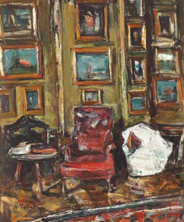 Gheorghe Petrașcu - Interior din atelierul artistului