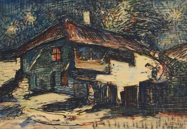 Gheorghe Petrașcu - Nocturnă (Case la Turtucaia)